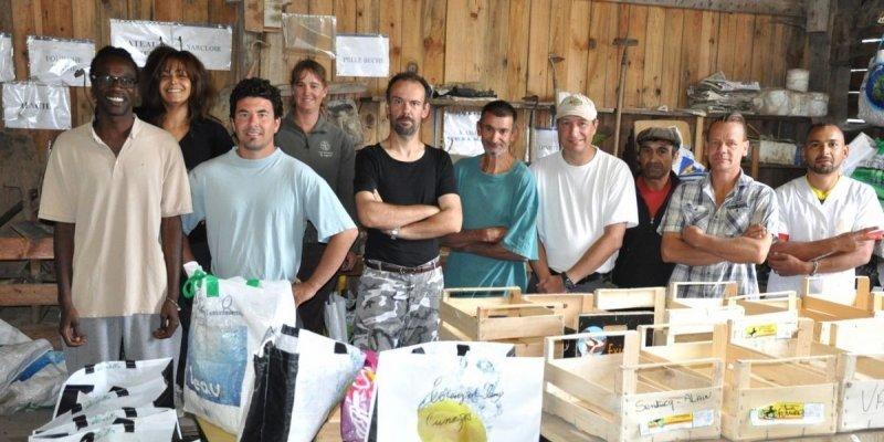 Un projet de recyclerie au jardin d'insertion à Bergerac