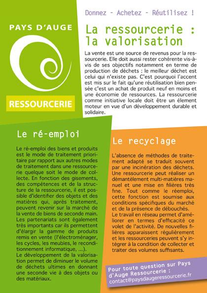 La ressourcerie : la valorisation