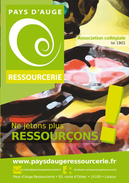 Pays d'Auge Ressourcerie : plaquette de présentation