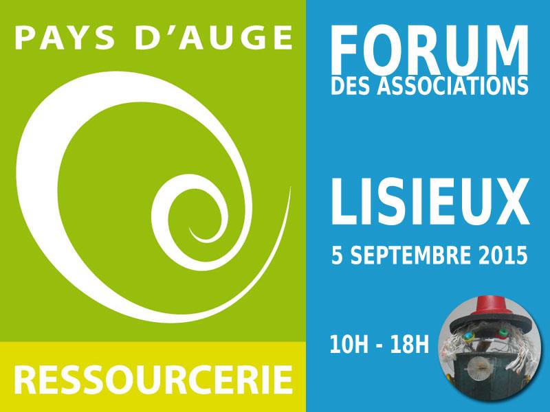 Pays d'Auge Ressourcerie au Forum des associations de Lisieux 2015