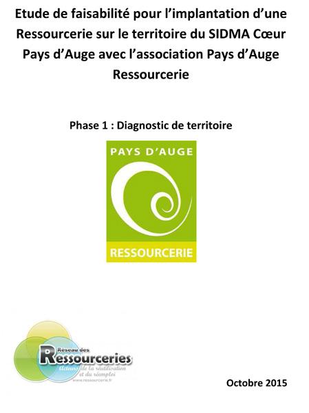 Étude de faisabilité pour l'implantation d'une Ressourcerie : diagnostic de territoire